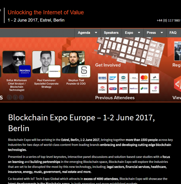 Blockchain Expo Events 2017